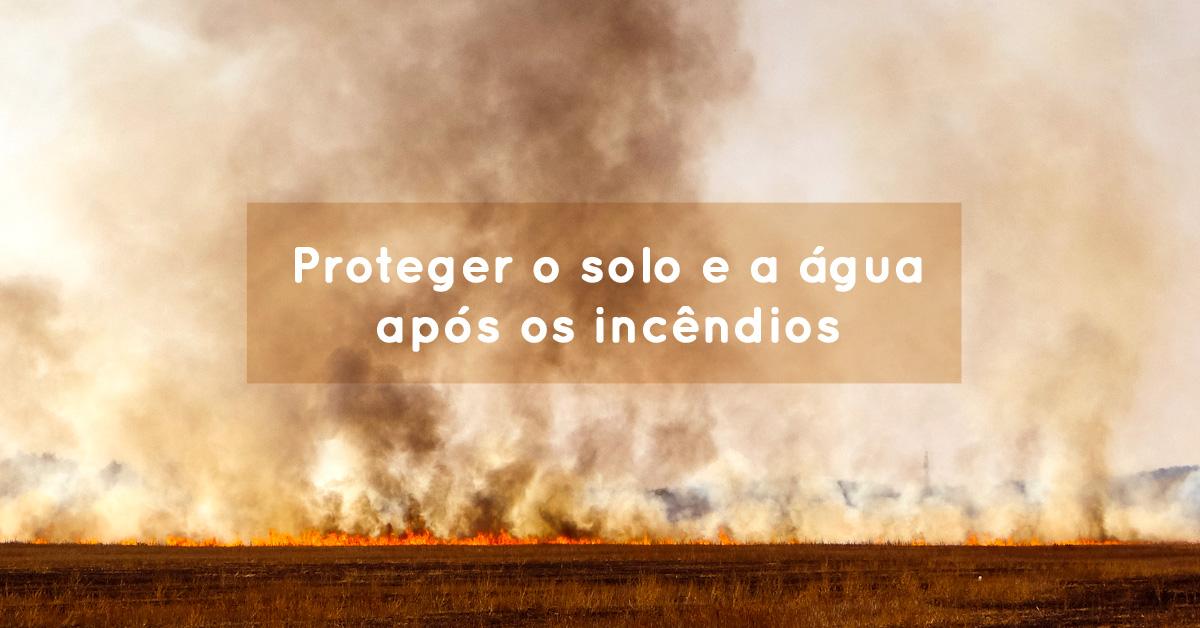 Proteger o solo e a água após os incêndios