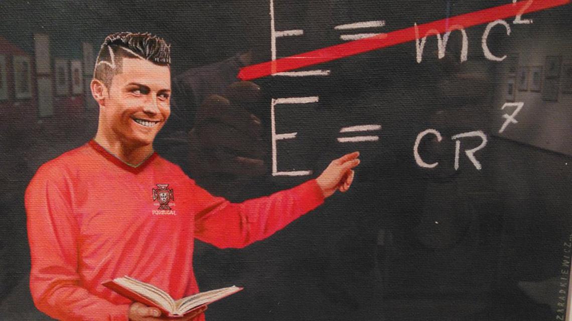 Cristiano Ronaldo: caricatura e imprensa mundial em Aveiro